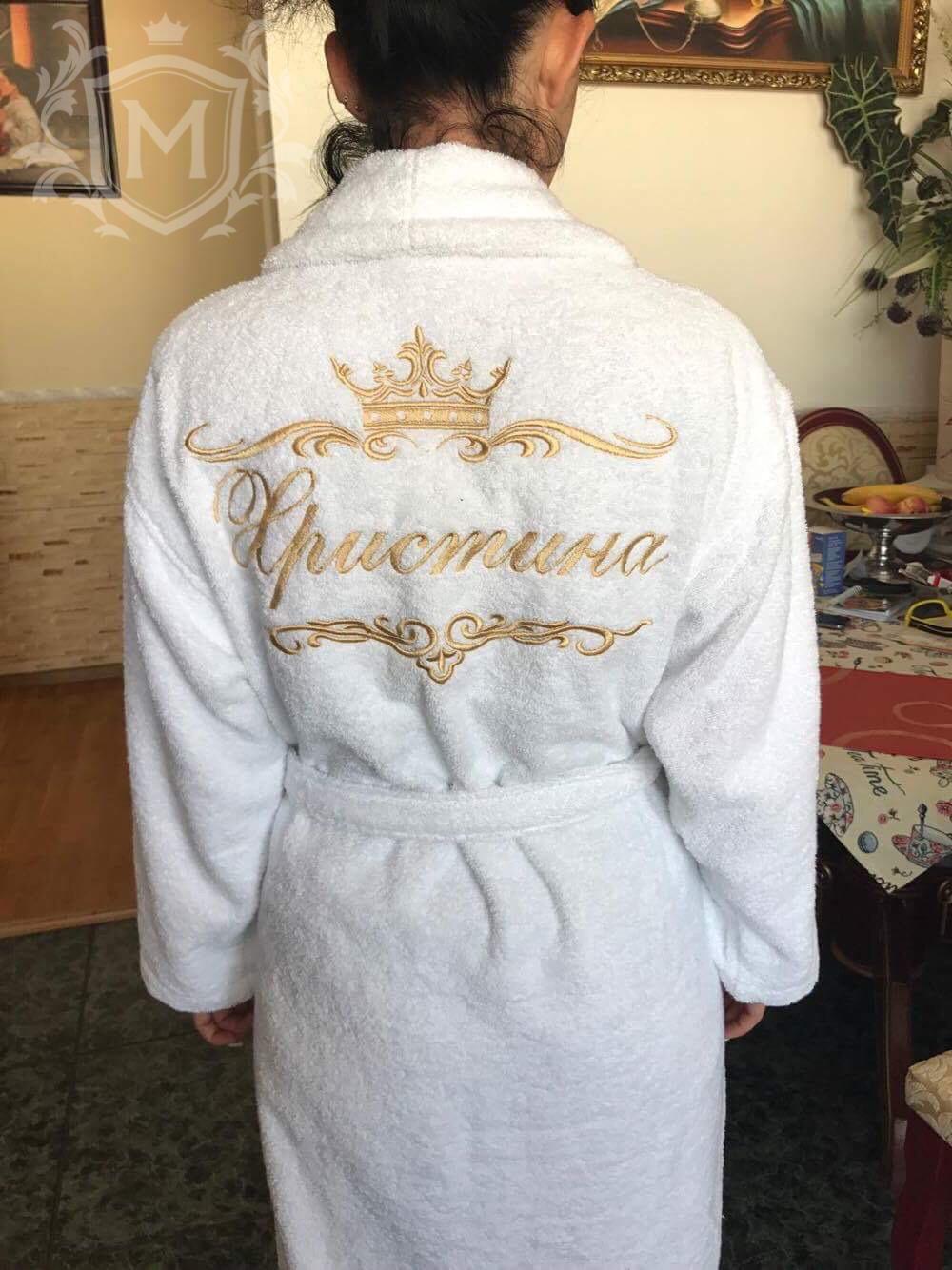 женский именной халат
