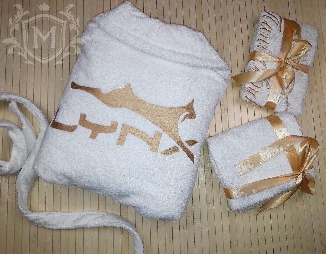 халат с вышивкой лисы