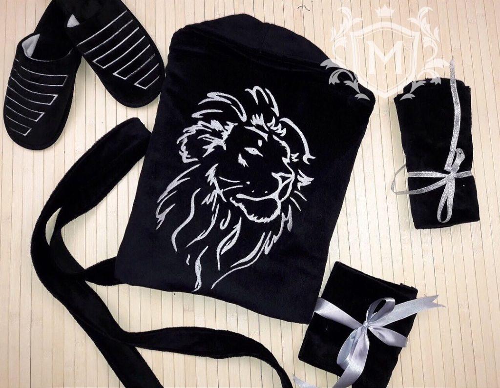 именная вышивка льва