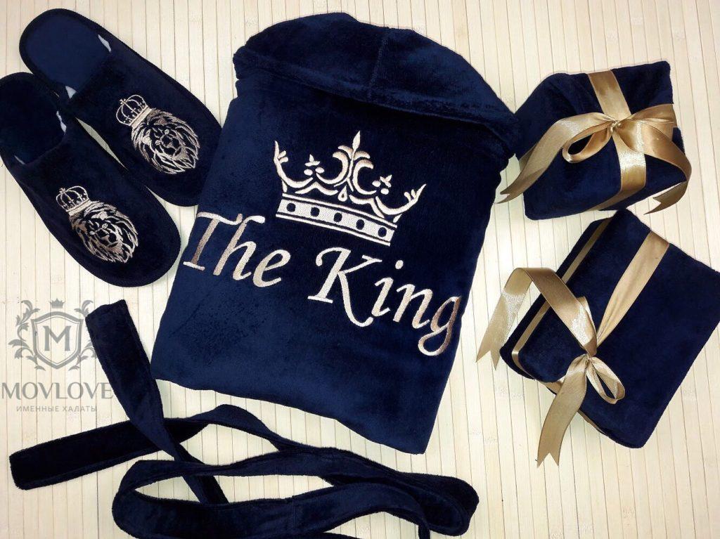 халат с вышивкой для короля семьи