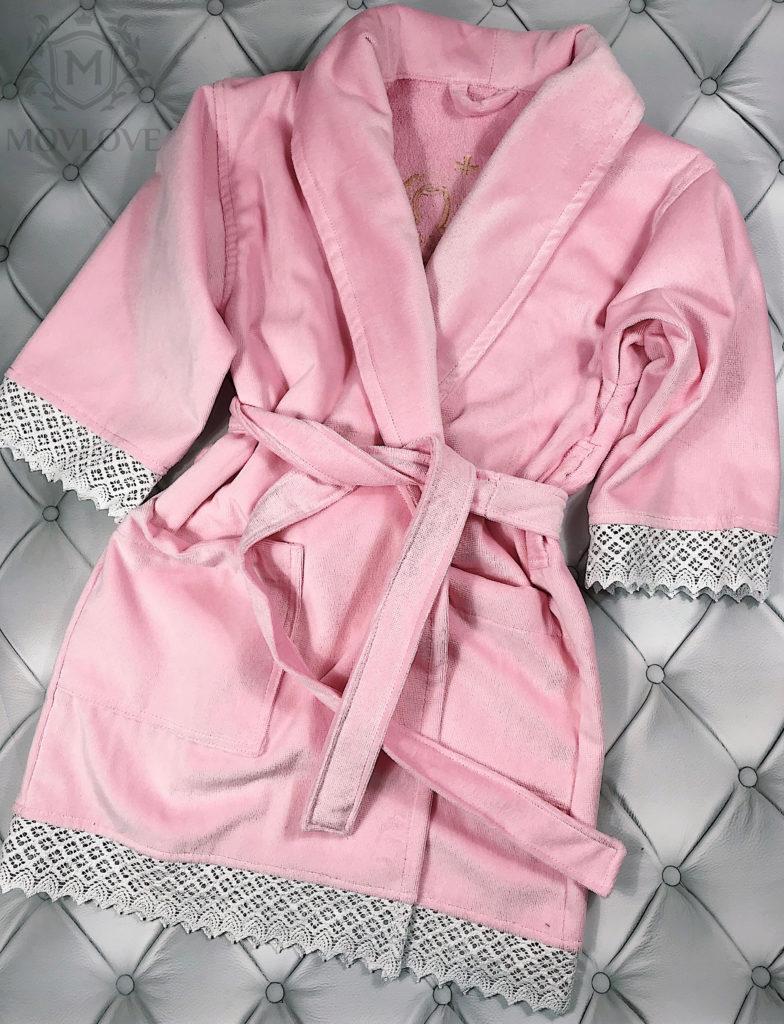 халат с вышивкой спереди