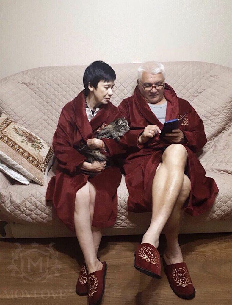 именные халаты для родителей