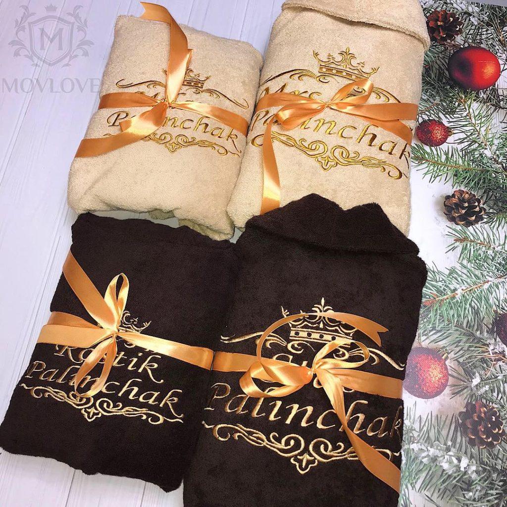 халаты с вышивкой в подарок