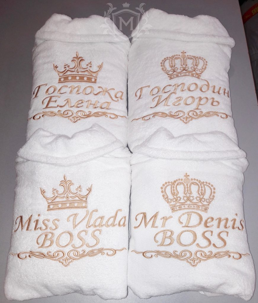набор белых халатов