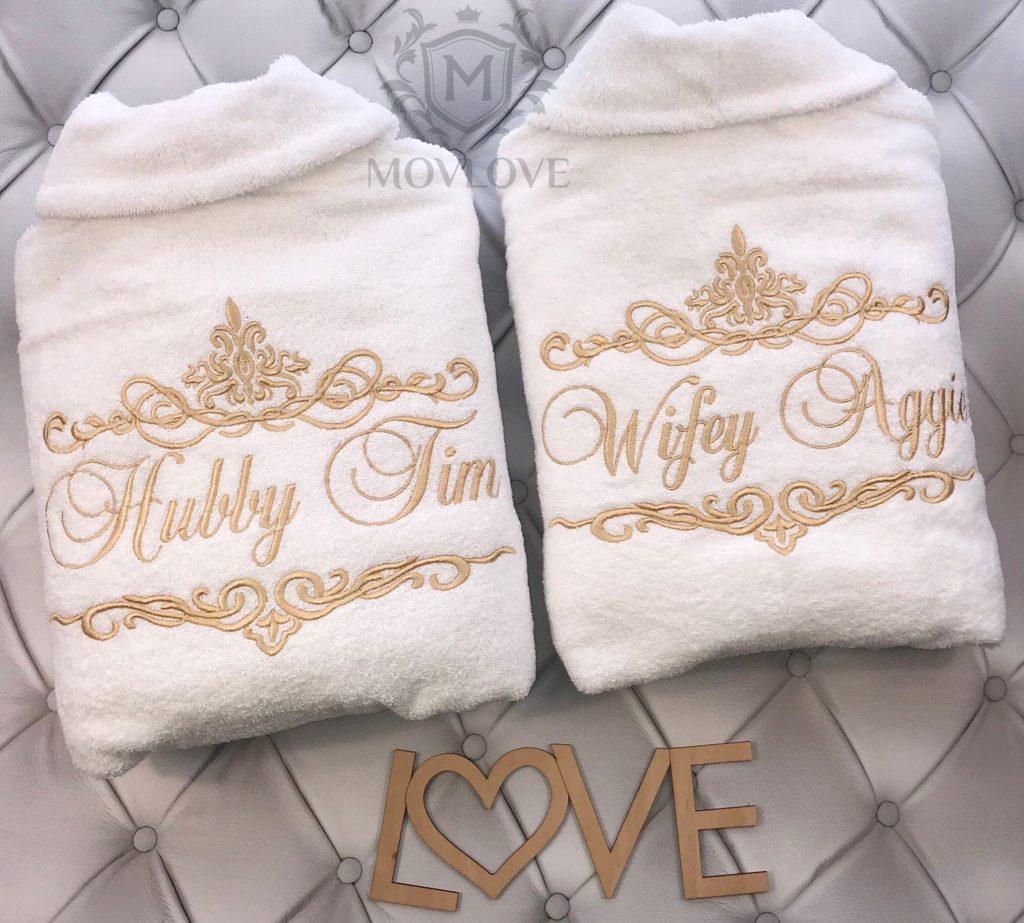 халаты с вышивкой для пары
