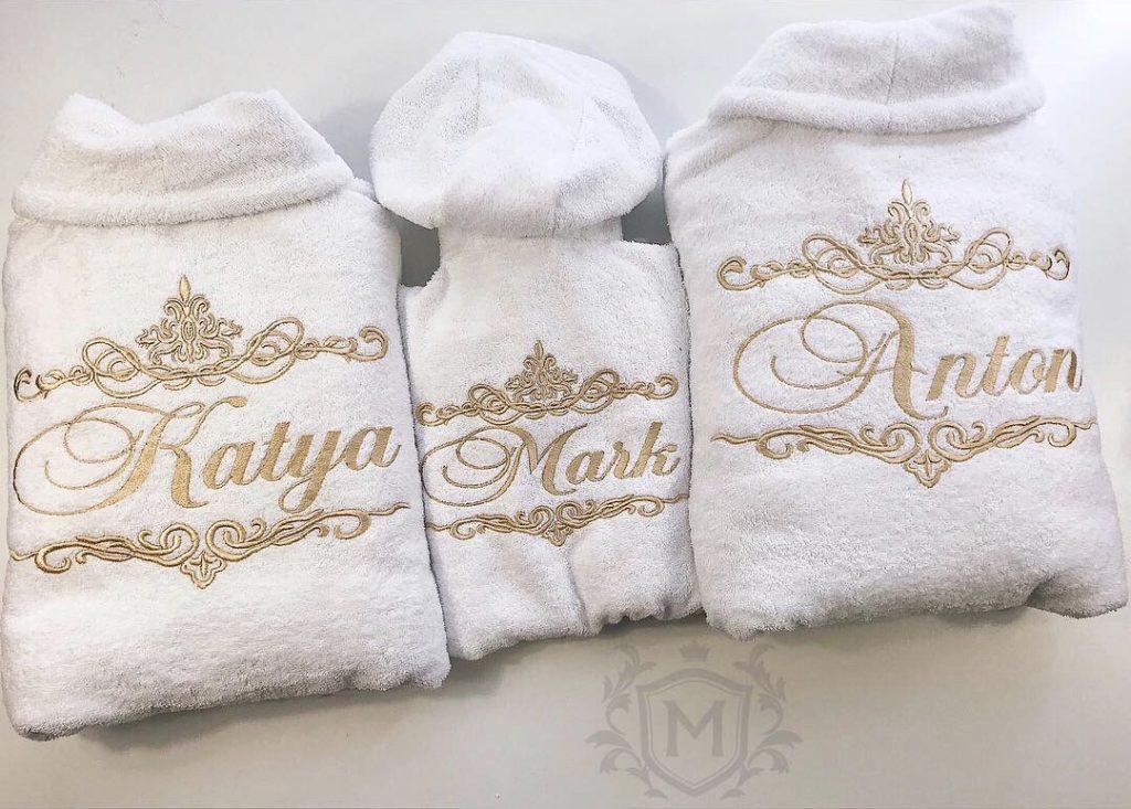 именные халаты на подарок сьеме
