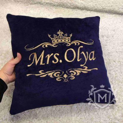 Именная подушка с вышивкой 1