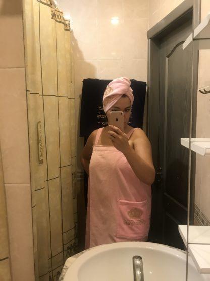 женская банная именная юбка с вышивкой
