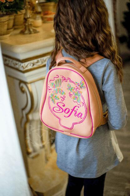 рюкзак с именной вышивкой